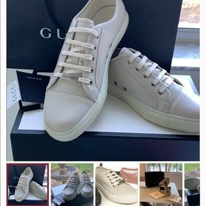 Gucci Leather Low Top Sneakers size 6 US BOYS